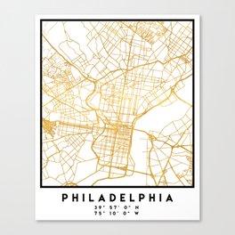 PHILADELPHIA PENNSYLVANIA CITY STREET MAP ART Canvas Print