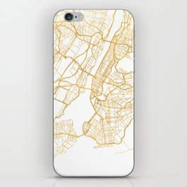 NEW YORK CITY NEW YORK CITY STREET MAP ART iPhone Skin