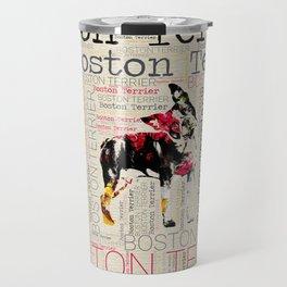 Adorable Boston Terrier Travel Mug