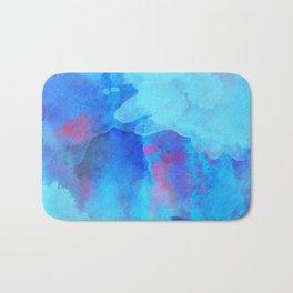 Watercolor abstract art Bath Mat