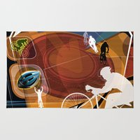 cycling Area & Throw Rugs featuring Cycling by Tami Cudahy