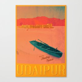 Vintage Travel Poster - Upaipur / India Canvas Print