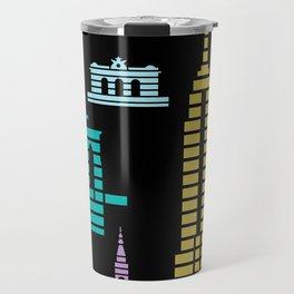New York Skyline Black Travel Mug