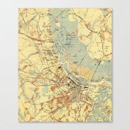 Vintage Map of Savannah Georgia (1942) Canvas Print