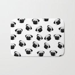 Pug dog pattern Bath Mat