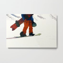 Ready to Ride! - Snowboarder Metal Print