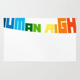 Love Is A Human Right LGBT Gay Pride Rug
