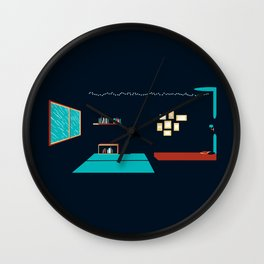 In a rainy day, a place to stay Wall Clock