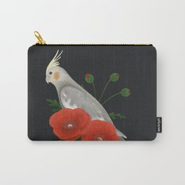 Light Grey/Cinnamon Cockatiel Carry-All Pouch
