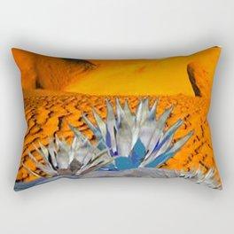BLUE AGAVE DESERT LANDSCAPE CACTUS ART Rectangular Pillow