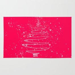 Pink Christmas tree Rug