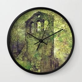 Ruins in the forest Wall Clock