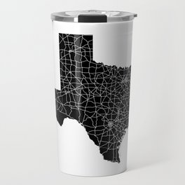 Texas Black Map Travel Mug