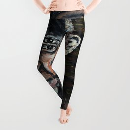 Perverted Little Man (Pablo Picasso, oil on canvas) Leggings