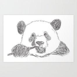 Panda's Meal Art Print