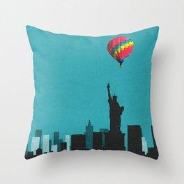 new york coldplay Throw Pillow