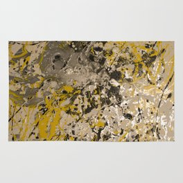 Aluminum, Yellow, Flat black DRIP Rug