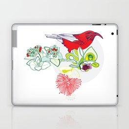 Red Ohia Lehua and Iwi Bird Laptop & iPad Skin