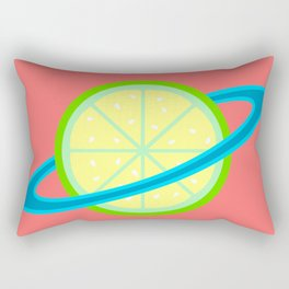Planet Lime | Lime | Citrus | Fruit | Solar System | Planets | pulps of wood Rectangular Pillow