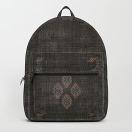 Kilim in Black and Pink Backpack