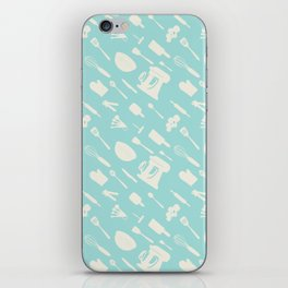 In The Kitchen — Turquoise iPhone Skin