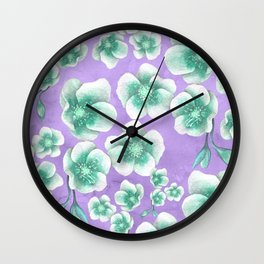 Between Blue and Purple Wall Clock