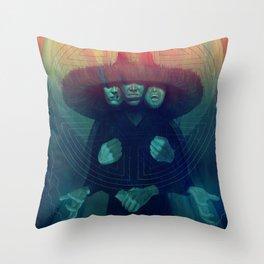 Three Storms Throw Pillow