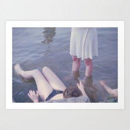 Sophie, Evie, and Maya, Loch Raven 2014 Art Print