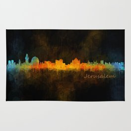 Jerusalem City Skyline Hq v4 Rug