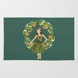 Hula Pineapple Wreath Rug