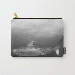 Tiger Shark, Black & White Carry-All Pouch