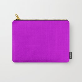 Lush Liatris Flower Fuchsia Violet Solid Color Carry-All Pouch