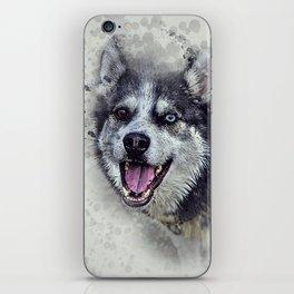 Beautiful husky iPhone Skin