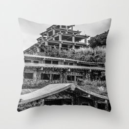 Inner view of the Royal Hotel Throw Pillow