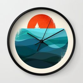 Deep blue ocean Wall Clock