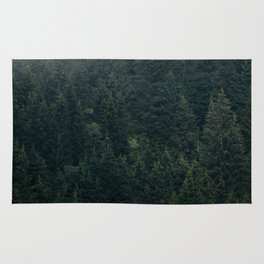 Mystic Pines - A Forest in the Fog Rug