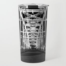 Shelby Street Bridge At Night Travel Mug