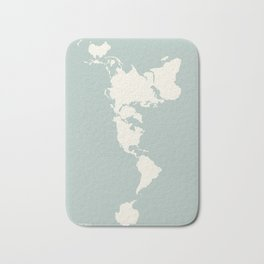 Dymaxion Map of the World Bath Mat