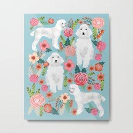 Standard Poodle white coat must have gifts for poodle owner dog breeds animal pet portrait dog art Metal Print