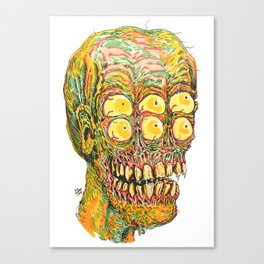 Six Eyed Wierdo Canvas Print