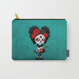 Day of the Dead Girl Playing Texas Flag Guitar Carry-All Pouch
