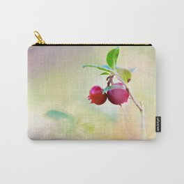 Macro shot of cowberry in forest Carry-All Pouch