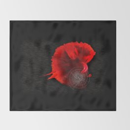 Diving in Red Throw Blanket