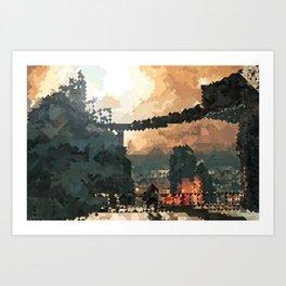 Brume Tower Art Print