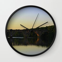 Fredericksburg Railroad Bridge Wall Clock
