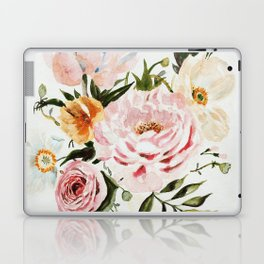 Loose Peonies & Poppies Floral Bouquet Laptop & iPad Skin