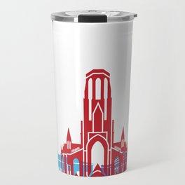 Stuttgart skyline pop Travel Mug