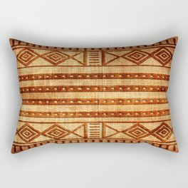 Embossed African Pattern Rectangular Pillow