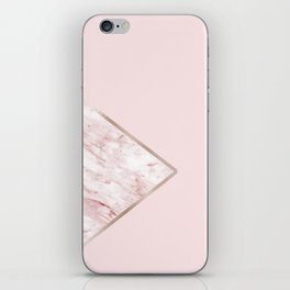 Blush pink geo - pink marble iPhone Skin