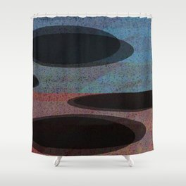 GLITTER eclipses Shower Curtain